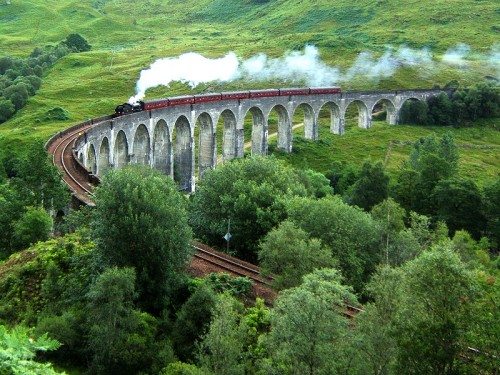 Viaducto Glenfinnan famoso por Harry Potter
