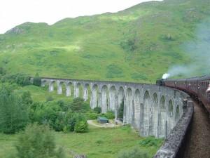 Viaducto de Glenfinnan desde el tren