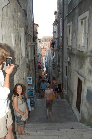 Callejuelas empinadas de Dubrovnik