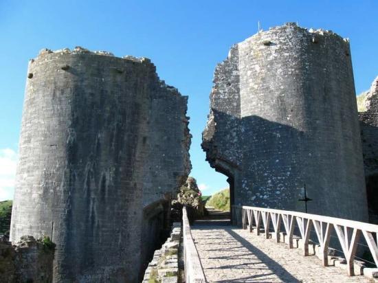 Marcas de guerra en el Corfe Castle