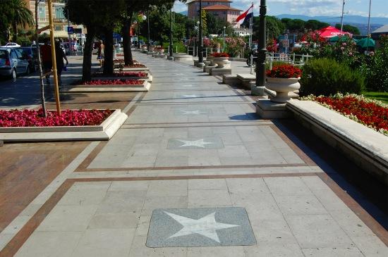 Paseo de la fama croata en Opatija