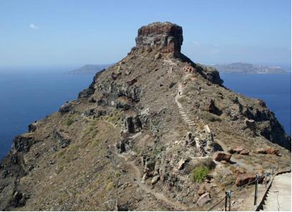 Senderismo en Santorini