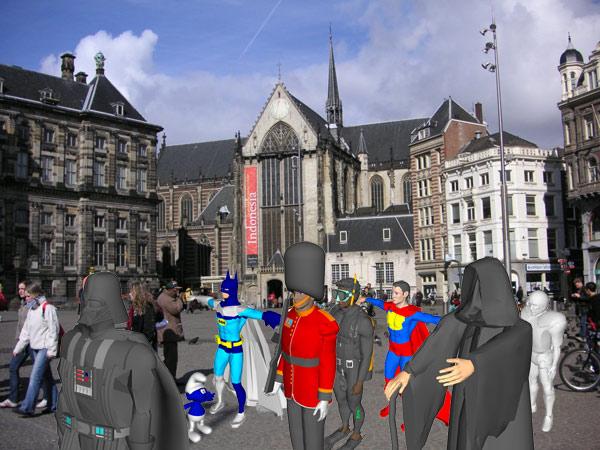 Algunas de las estatuas virtuales que se pueden ver