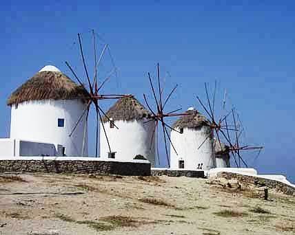 Molinos en Mykonos
