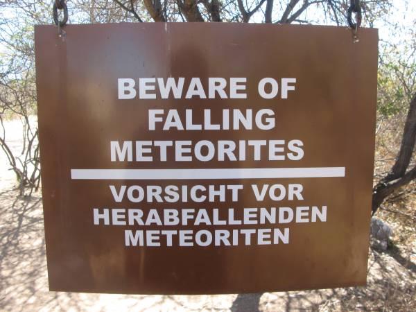 Ten cuidado con los meteoritos