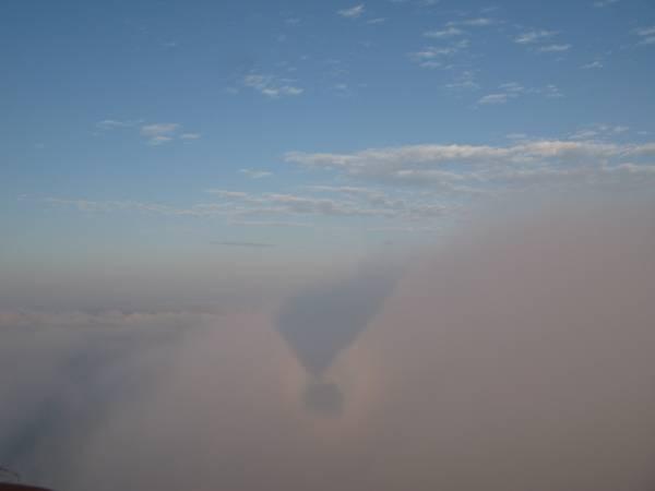 Vuelo en globo por encima de las nubes