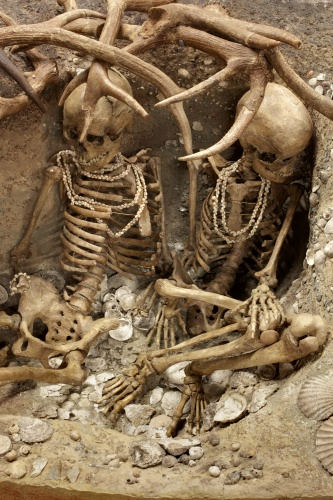 Exposición de sepultura prehistórica - Téviec