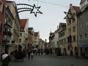 Calles de Lindau en Navidad