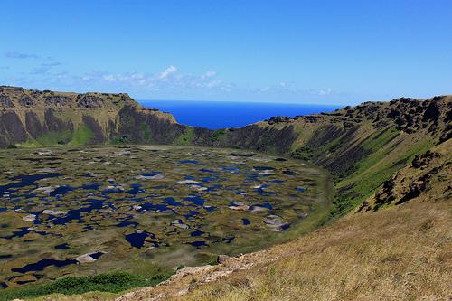 Cráter del volcán Rano Kau @3viajes
