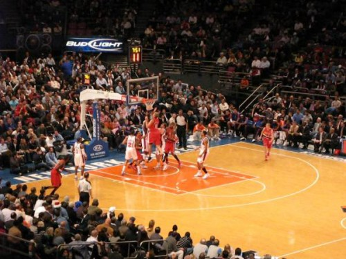 Partido de la NBA: New York Knicks contra Portland Trail Blazers