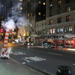 Calle de New York por la noche