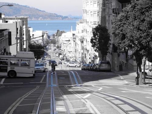 Calles de San Francisco desde el tranvía