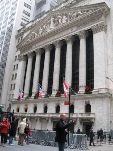 La bolsa de Wall Street en Nueva York