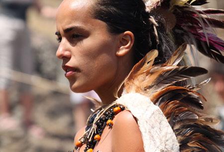 Candidata a Reina durante la Tapati 2010