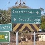 Señalización en Namibia