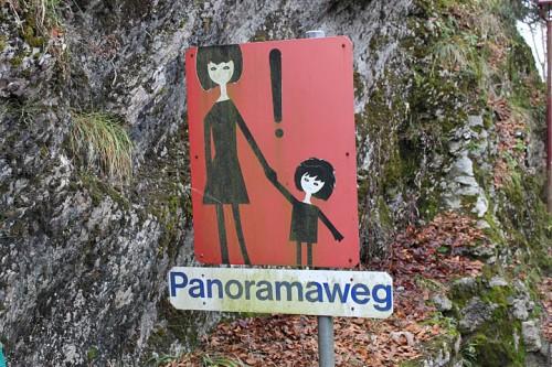 Señal de alerta en Luzerna, Suiza