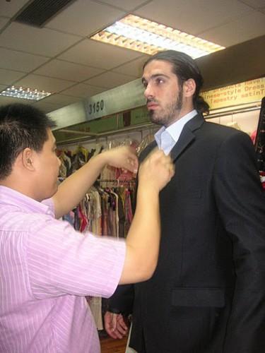 En China haciéndome un traje a medida