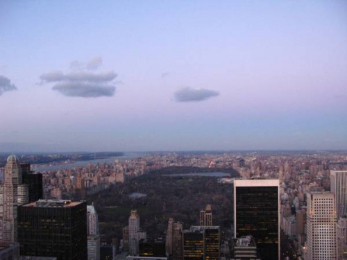 Vista de Central Park y norte de Manhattan desde el Top of the Rock