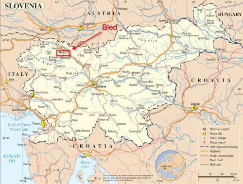 Mapa de Eslovenia - Bled