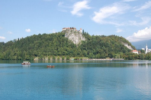Barcas en el Lago Bled