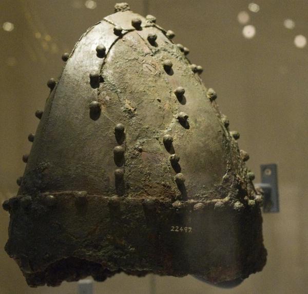 Casco persa, Imperio Sasánida