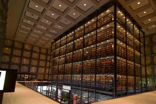 Biblioteca de la Universidad de Yale, en New Haven (CT)