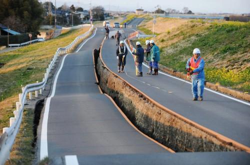 Carretera destruída por el terremoto de Japón @boston