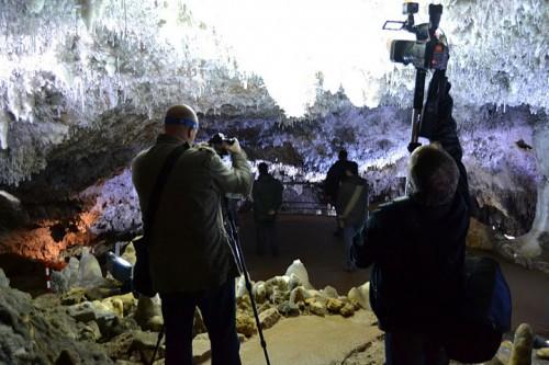 Interior de la cueva El Soplao @3viajes