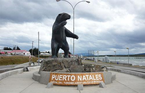 Réplica de Smilodon en Puerto Natales