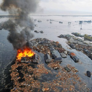 El tsunami de Japón llevándose casas @boston