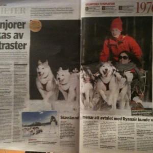 El viaje por Laponia sueca en los medios de comunicación locales