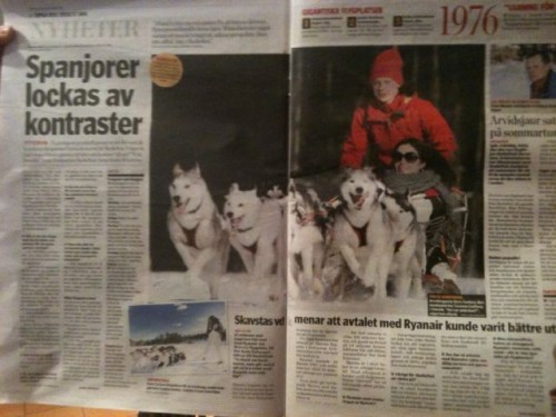 Doris en un periódico sueco