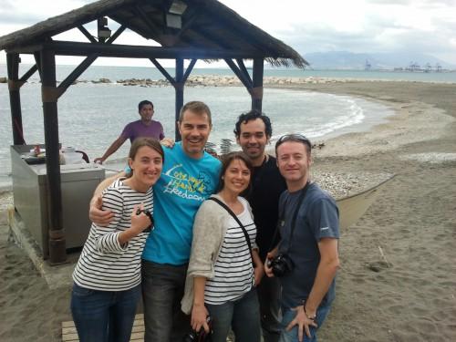 Compañeros de escapada en Málaga #Costrasoltrip @viajarcondiego, @larabrito @laloliplanet @viajablog