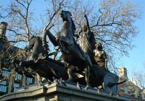Estatua de Boudicca en Londres (Fuente: Wikimedia commons)