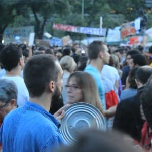Cacerolada en la AcampadaBCN 2011