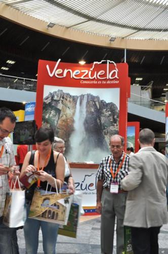 Vista parcial del stand de Venezuela