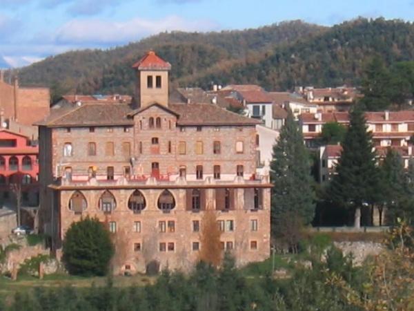 Vista del Hostal Bofill en Viladrau