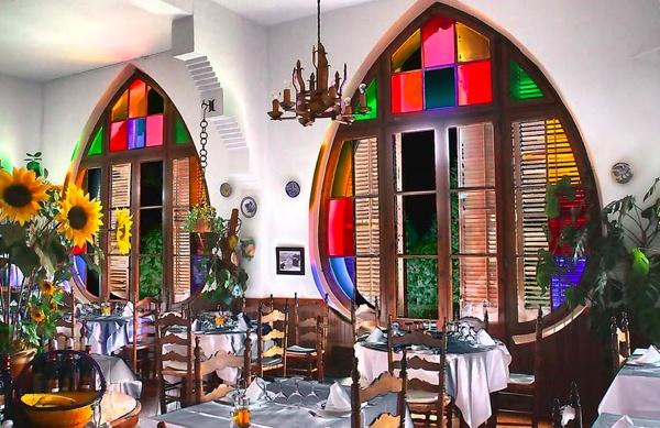 Magnífico aspecto del comedor del Hotel Bofill en Viladrau @by Nando10