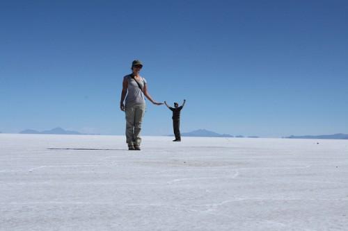 Perspectivas en el Salar de Uyuni