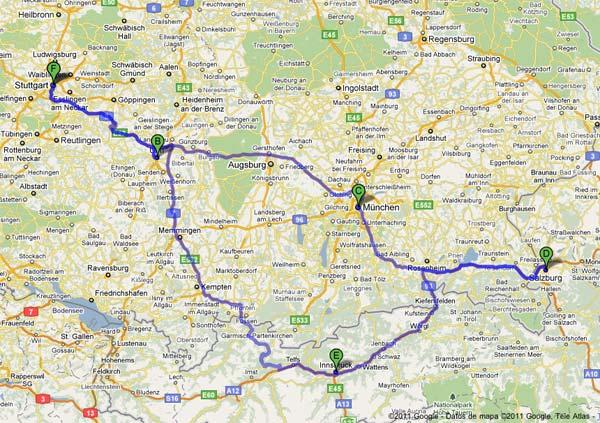 Ruta en coche por el sur de Alemania y Austria