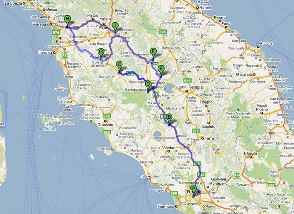 Ruta en coche por Roma y la Toscana