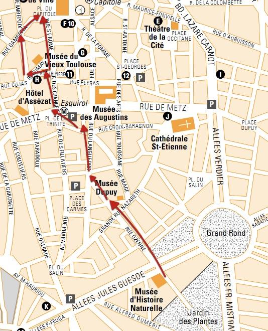 Mapa Turistico De Toulouse.Ruta Por Los Palacetes De Toulouse 3viajes