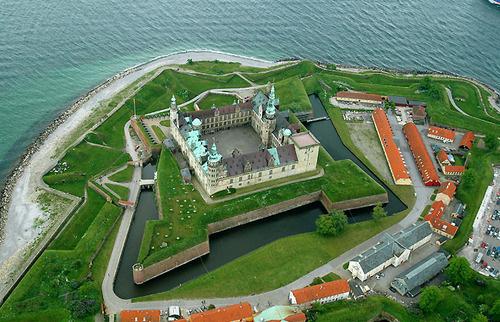 Vista aérea del castillo de Kronborg