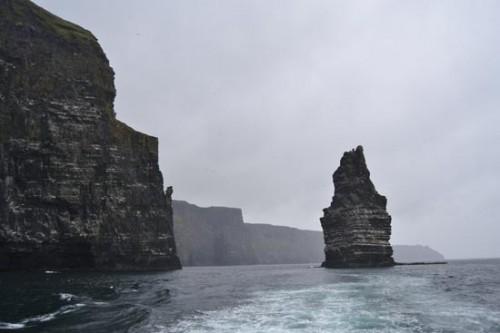 La fuerza de los elementos sobre los Cliffs Of Moher