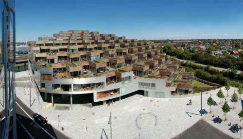 Apartamentos de la Montaña de Bjarke Ingels en Copenhagen