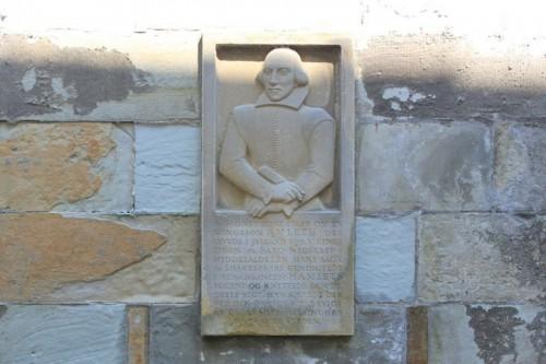 Shakespeare immortalizado en el castillo de Kronborg, Helsingor en Dinamarca