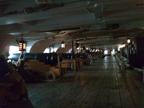 Batería de cañones del HMS Victory