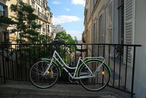 Bicicleta en Montmatre