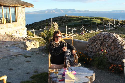 Descansando en el refugio Palla Khasa Ecological