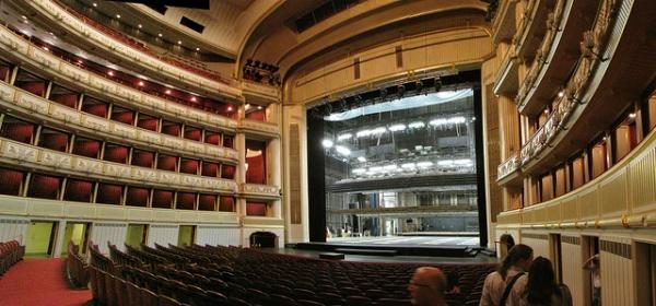 Vista del interior de la Ópera de Viena